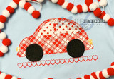 Car on Heart Road Simple Applique