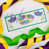 Faux Smocked Mardi Gras Quick Stitch