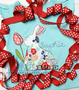 Bunny with Tulip Simple Applique