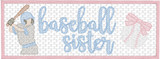 Faux Smocked Baseball Sister Quick Stitch