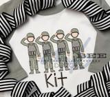 Army Men Line Quick Stitch