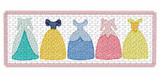 5 inch Faux Smock Dress Line with Bow Quick Stitch Embroidery