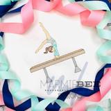 Gymnast on Balance Beam Quick Stitch