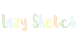 "1.5"" Lazy Sketch Font Embroidery + BX"