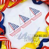 American Sailboat Trio Quick Stitch
