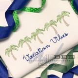 Palm Tree Sketch Line Quick Stitch