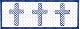 Faux Smocked Cross Trio Quick Stitch Embroidery