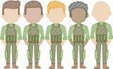Army Men (Build Your Own Family) Quick Stitch Embroidery