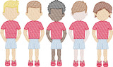 Boys in Shorts (Build Your Own Family) Quick Stitch Embroidery