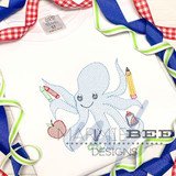 Back to School Octopus Quick Stitch