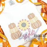 Pumpkin Sunflower Trio Quick Stitch