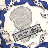 Big Brother Silhouette Simple Applique