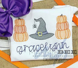 Pumpkin Stacks and Witch Hat Quick Stitch