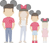 Add on Amusement Hats (Build Your Own Family 2nd Gen) Quick Stitch Embroidery