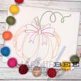 Classic Pumpkin with Bow Single Quick Stitch