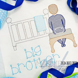 Big Brother Waiting on Baby Quick Stitch Embroidery