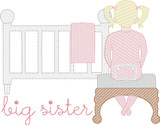Big Sister Waiting on Baby Quick Stitch Embroidery