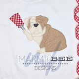 Bulldog with Cowbell Simple Applique