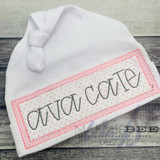 Name Plate with Vintage Stitching Simple Applique