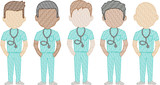 Doctors (Male) (Build Your Own Family) Quick Stitch Embroidery