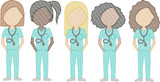 Doctors (Female) (Build Your Own Family) Quick Stitch Embroidery