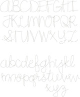 """Eliza Bean Stitch Font (1.5"""", 1.25"""", 1"""") + BX"""