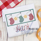 Faux Smocked Stocking Trio Quick Stitch Embroidery