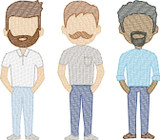 Facial Hair for Generation 2 (Add On for Family) Quick Stitch Embroidery