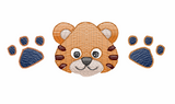 Baby Tiger Paw Trio Quick Stich Embroidery