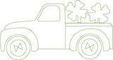 One Color Shamrock Truck Quick Stitch