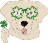 St Patricks Dog Simple Applique