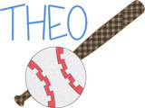 Ball and Bat Simple Applique