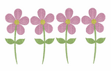 Flower Line Quick Stich Embroidery