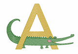 A is for Alligator Quick Stich Embroidery