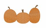 Pumpkin Trio Quick Stich Embroidery