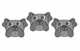 Bulldog Trio Quick Stich Embroidery