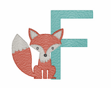 F is for Fox Quick Stich Embroidery