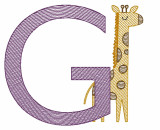 G is for Giraffe Quick Stich Embroidery