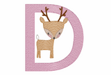 D is for Deer Quick Stich Embroidery