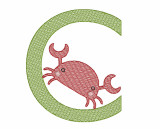 C is for Crab Quick Stich Embroidery