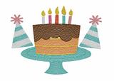 Birthday Trio Quick Stitch Embroidery