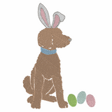 Easter Bunny Doodle Boy Quick Stich Embroidery