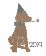 New Years Doodle Girl Quick Stich Embroidery