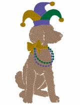 Mardi Gras Girl Quick Stich Embroidery