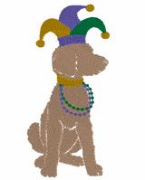 Mardi Gras Boy Quick Stich Embroidery