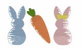 Bunny Carrot Trio Quick Stitch