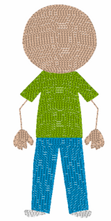 Bald Dad (Add On for Family) Quick Stitch Embroidery