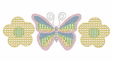 Butterfly Flower Motif Quick Stitch Embroidery