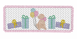 Smocked Birthday Girl Pup Quick Stitch Embroidery