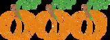 Classic Pumpkin Trio Quick Stitch